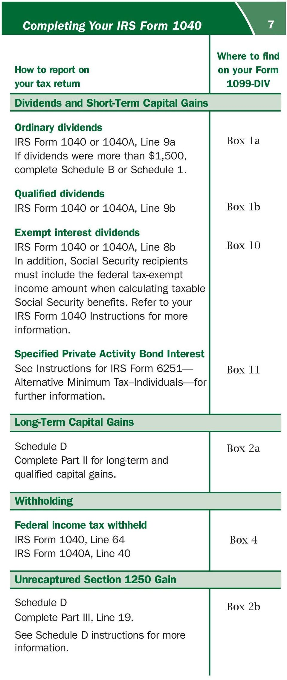 Form 1099-DIV: Dividends and Distributions Tax Form Mail Date ...