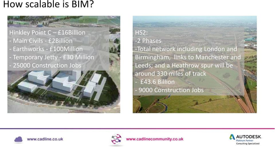 Temporary Jetty - 30 Million - 25000 Construction Jobs HS2: -2 Phases -Total network