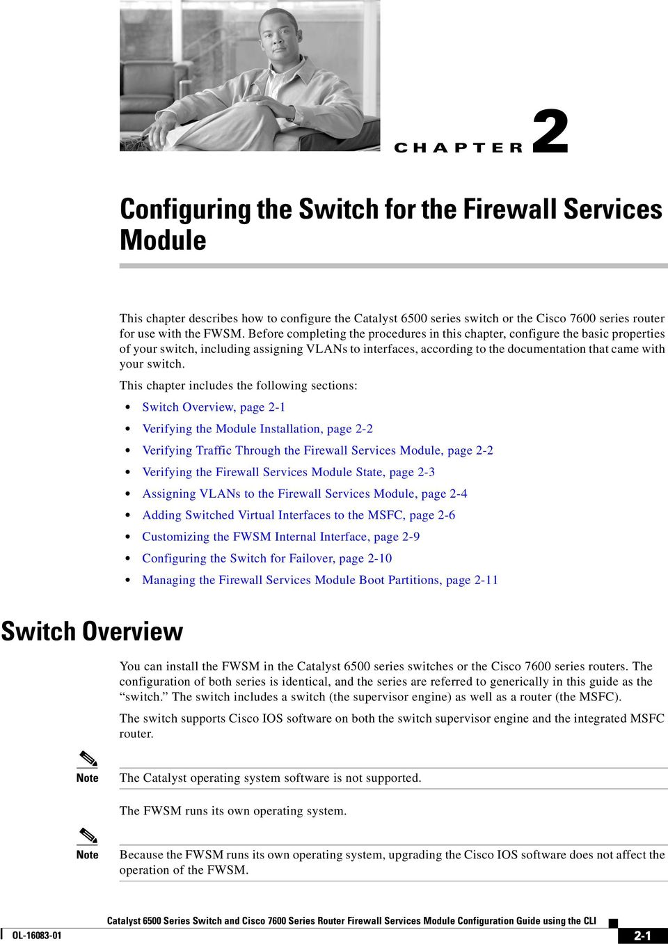 Configuring The Switch For Firewall Services Module Pdf Note Ports On That Are Connected To Asa Must Be In This Chapter Includes Following Sections Overview Page 2 1 Verifying