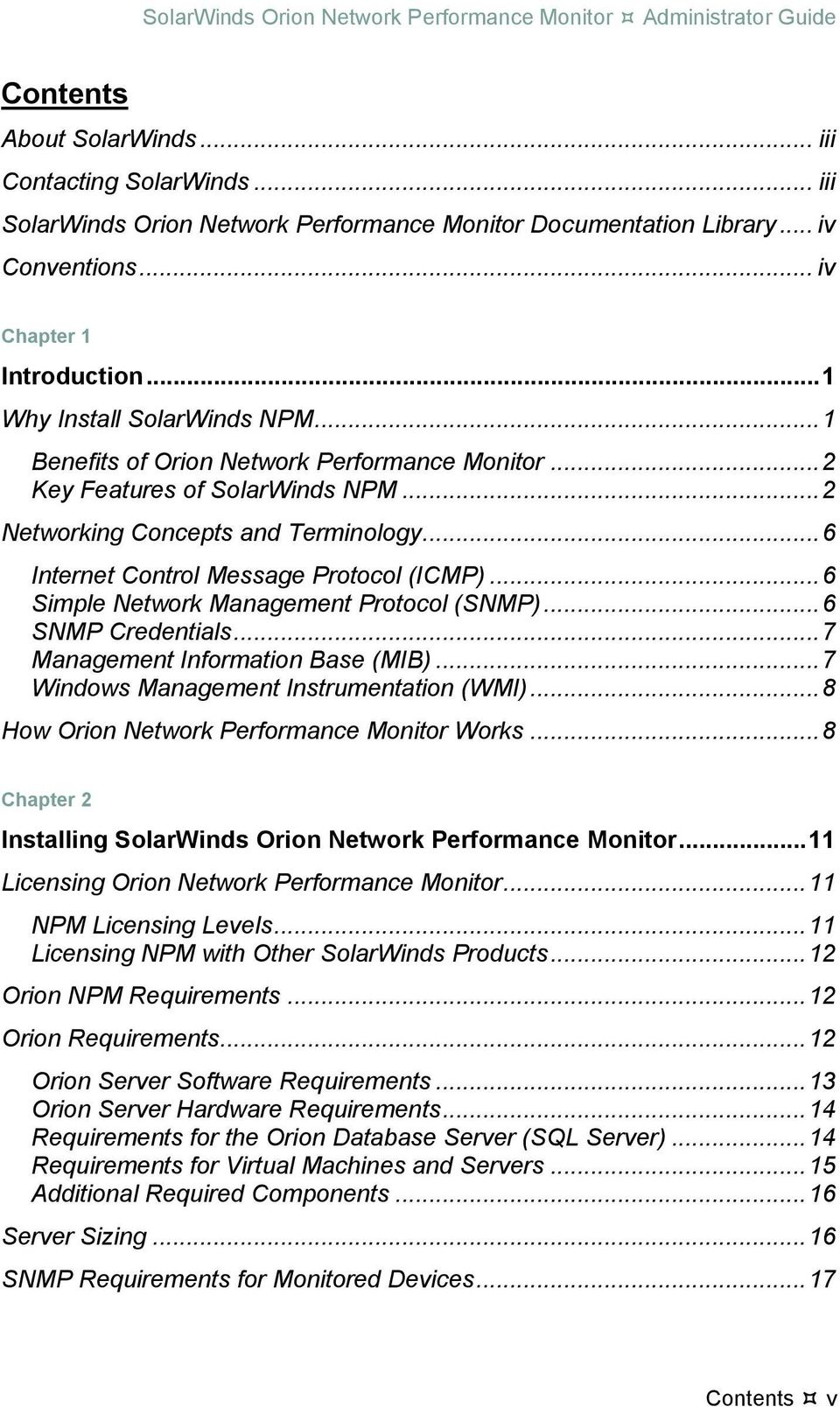 solarwinds orion network performance monitor administrator guide pdf rh docplayer net solarwinds npm installation guide solarwinds npm administrator guide