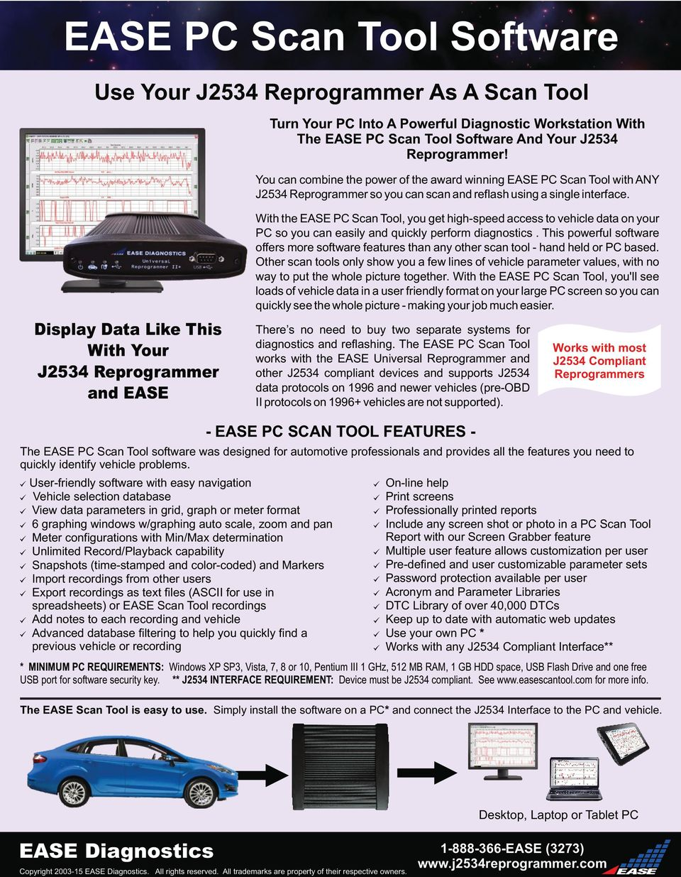 Reprogram Vehicles Using The EASE Universal Reprogrammer II+