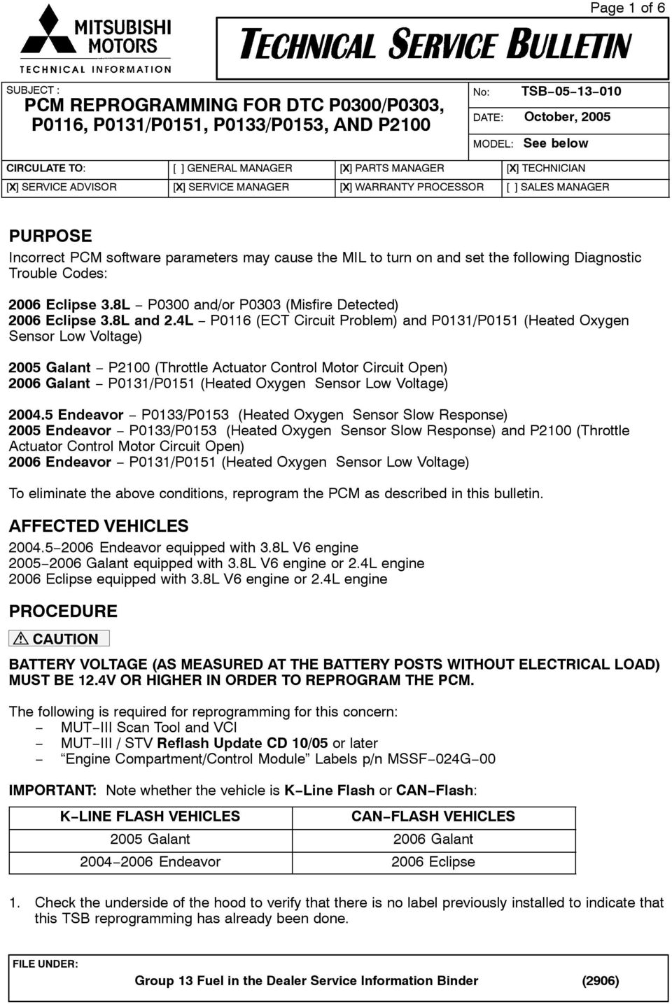 Toyota Sienna Service Manual: Actuator Supply Voltage Circuit Open