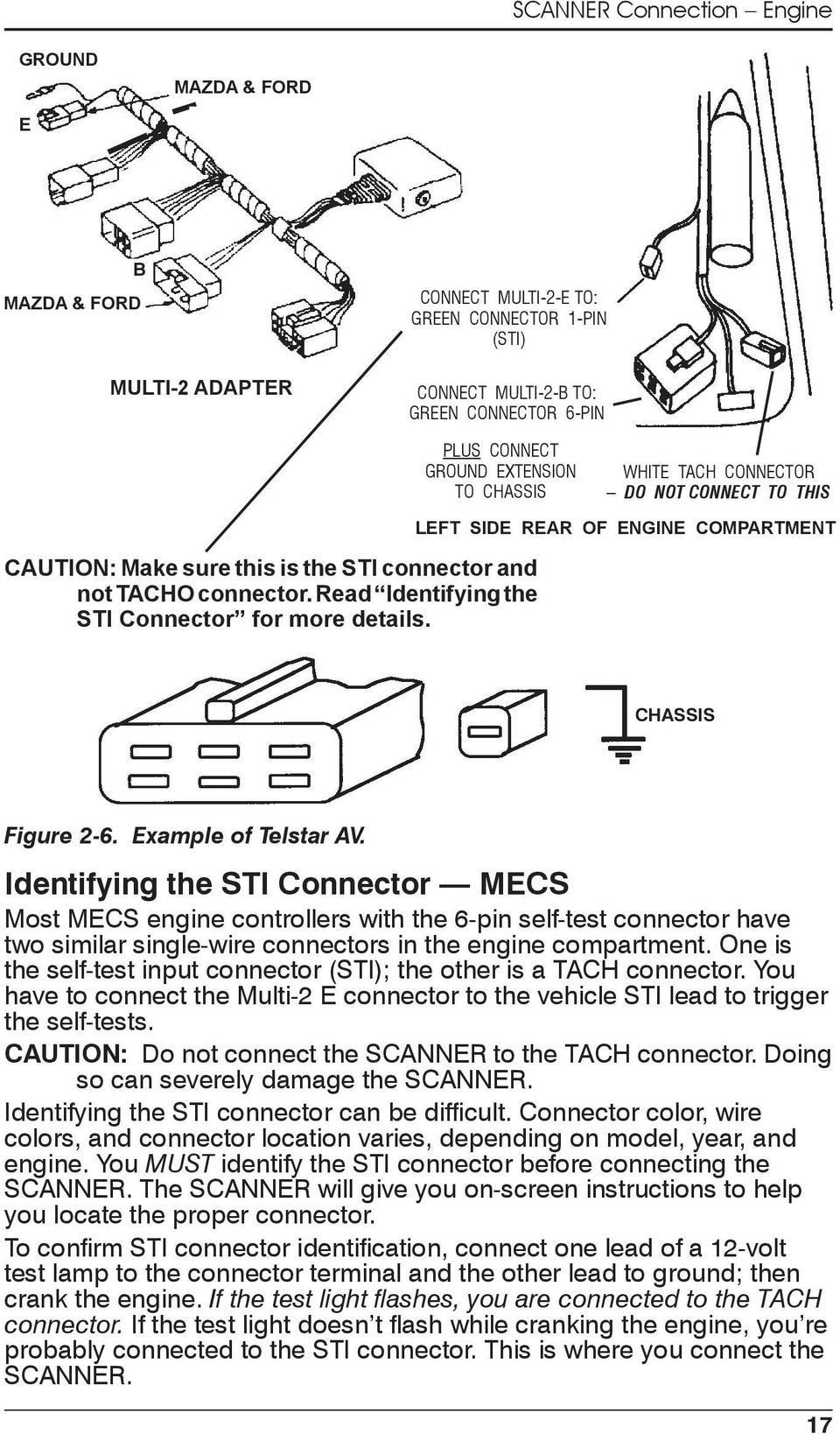 Ford Vehicle Communication Manual Pdf Xh Wiring Diagram White Tach Connector Do Not Connect To This Left Side Rear Of Engine Compartment Chassis Figure