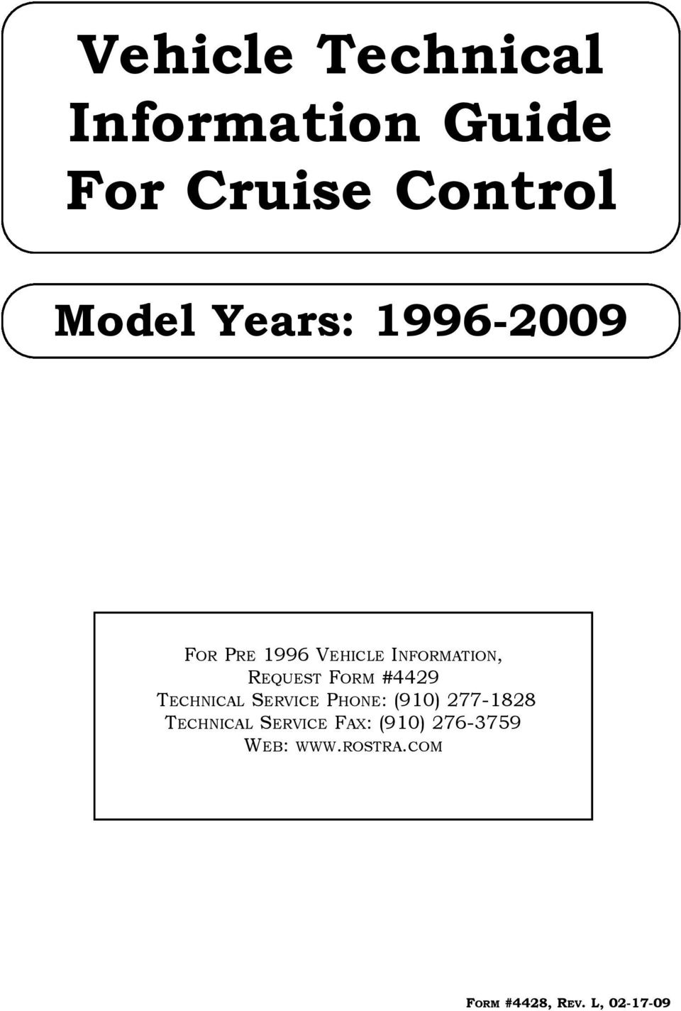 Vehicle Technical Information Guide For Cruise Control Pdf 2002 Ford F 150 Cruisecontrol Fuse Box Diagram Transcription