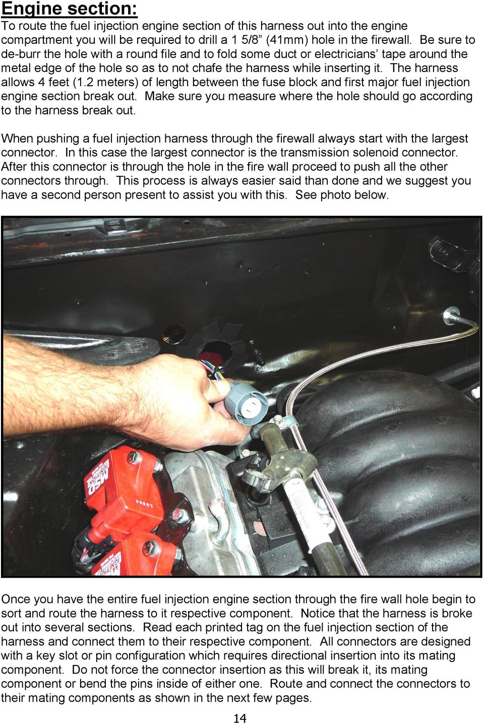 Wire Harness Installation Manual Part Pdf 2003 Chevy Impala Heater Schematic The Allows 4 Feet 12 Meters Of Length Between Fuse Block And