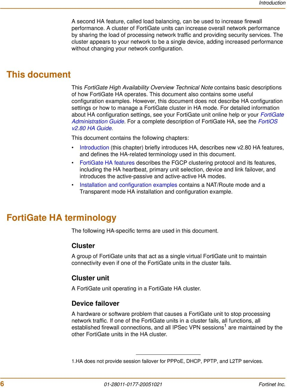 FortiGate High Availability Overview Technical Note - PDF