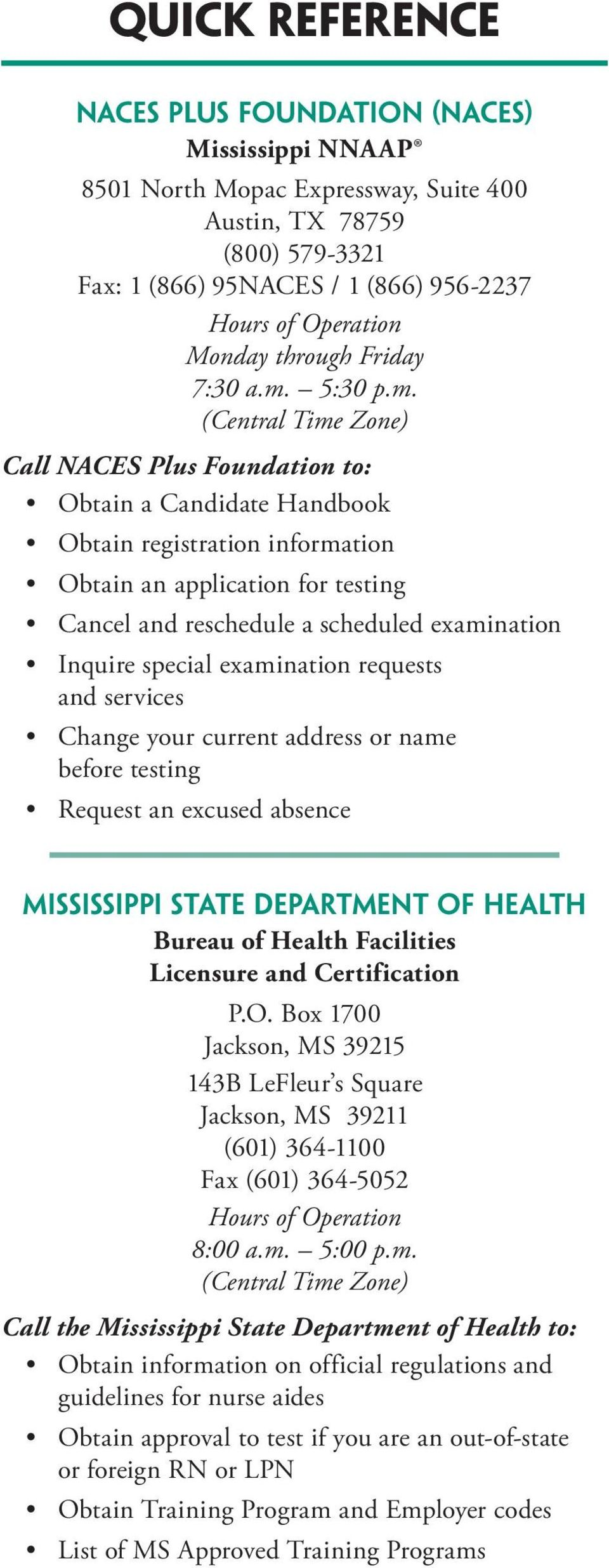 Pearson Vue Mississippi Nurse Aide Written Or Oral Examination
