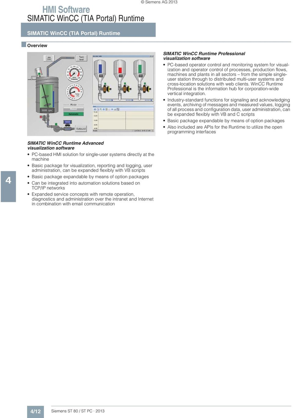 Siemens AG /51 Software for energy management 4/52 SIMATIC B