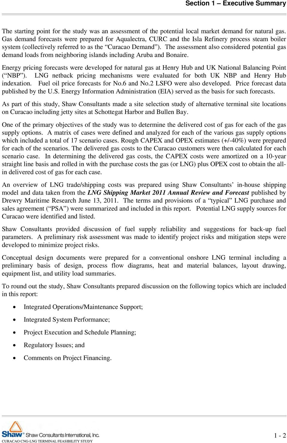 Curacao Cng Lng Terminal Feasibility Study Pdf Process Flow Diagram The Assessment Also Considered Potential Gas Demand Loads From Neighboring Islands Including Aruba And Bonaire