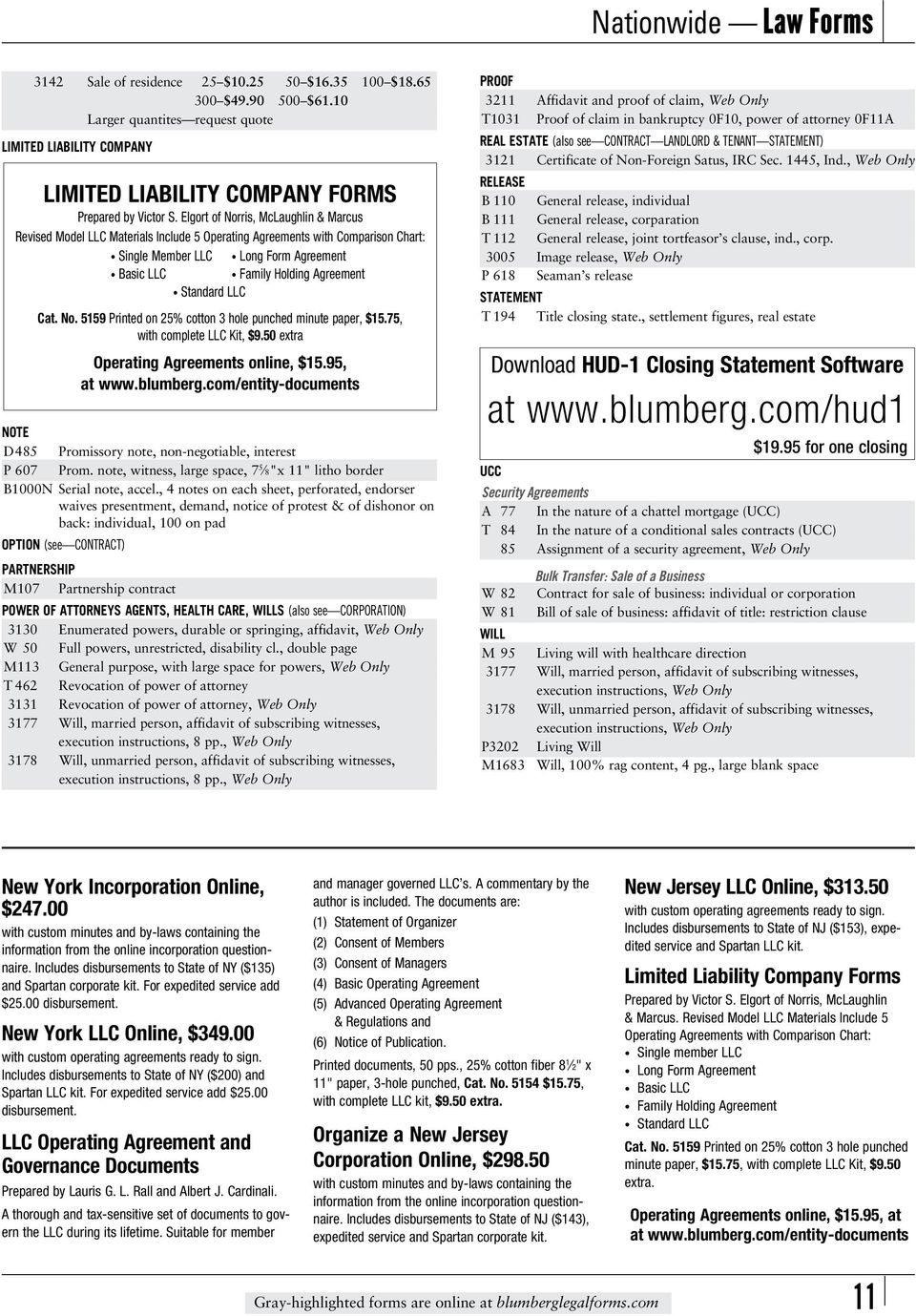 Blumberg Law Forms This Catalog Lists All Blumberg Forms In