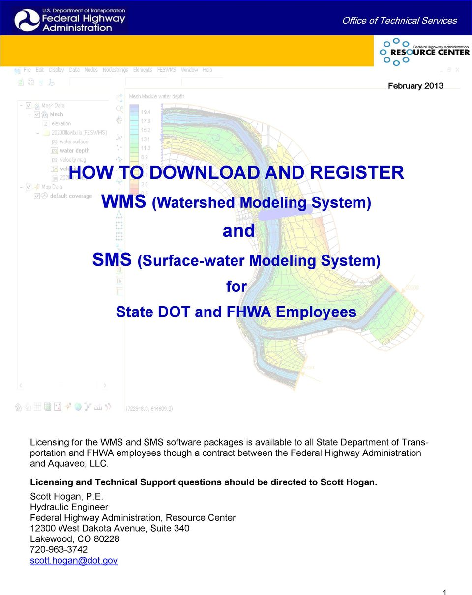 HOW TO DOWNLOAD AND REGISTER WMS (Watershed Modeling System