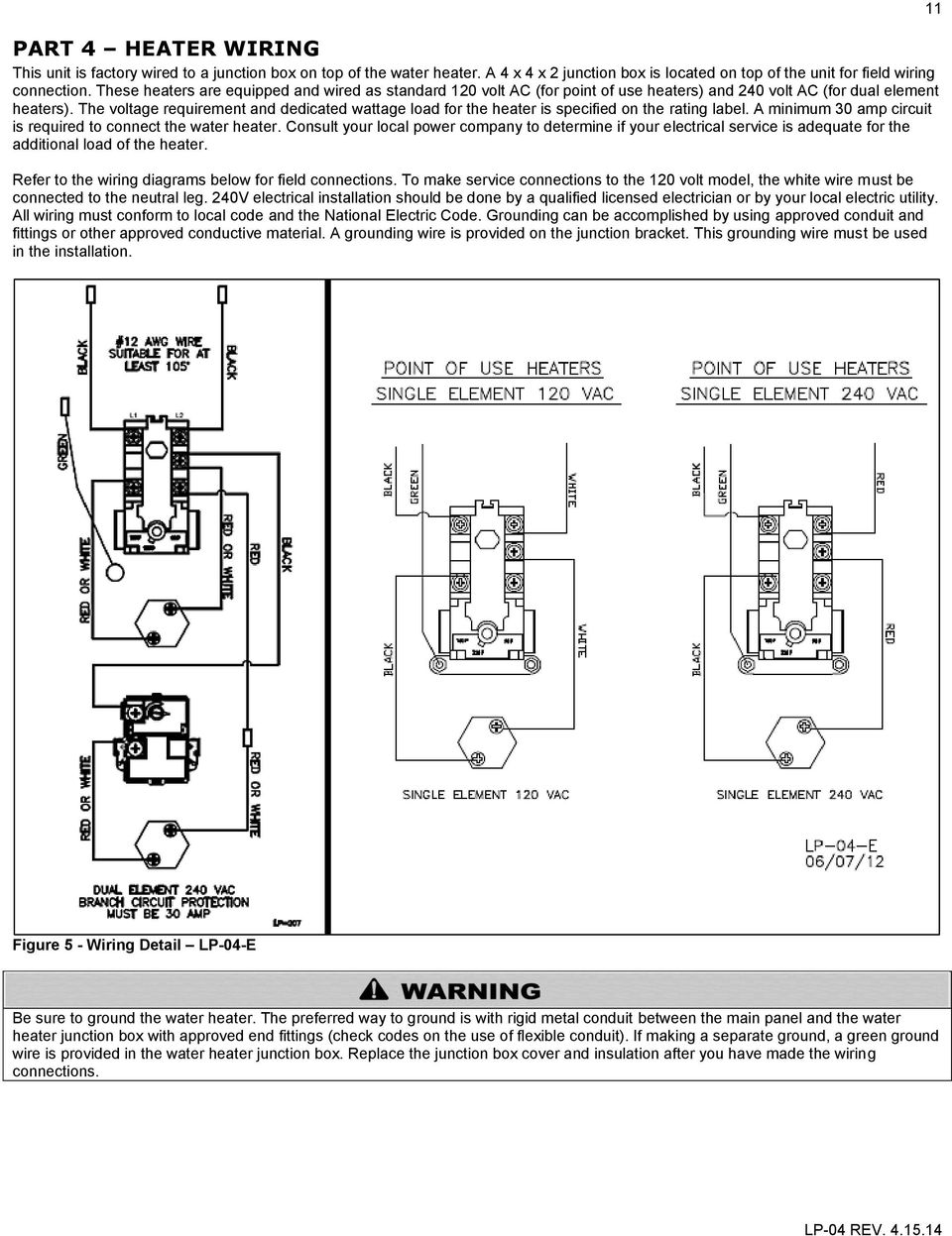 Reliance Dual Element Water Replace Thermostat Heater Wiring Diagram from docplayer.net