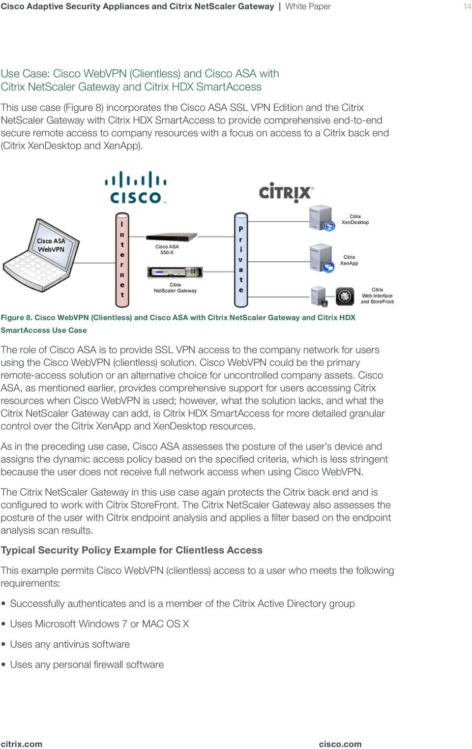 Cisco Adaptive Security Appliances and Citrix NetScaler