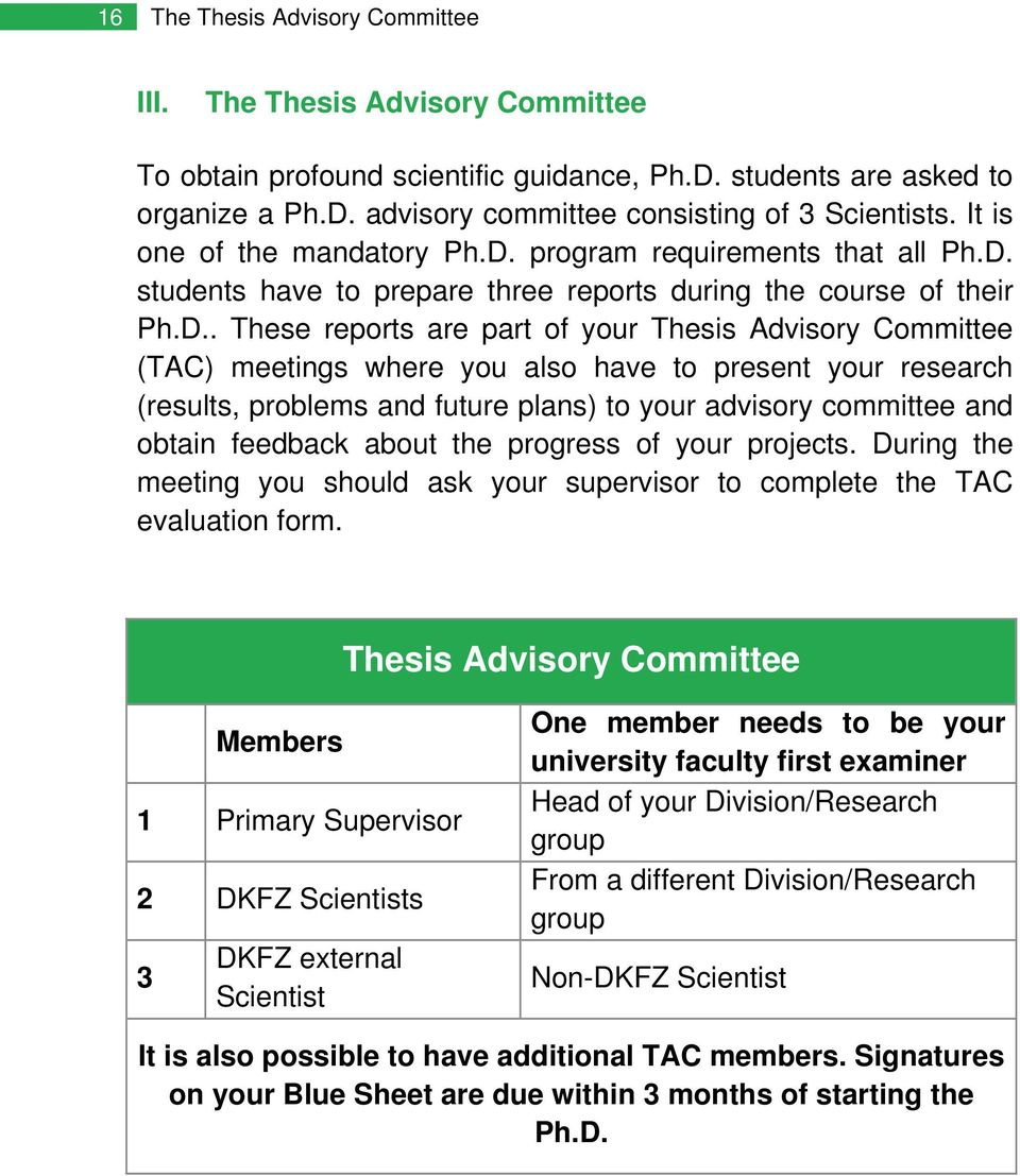 thesis advisory committee dkfz
