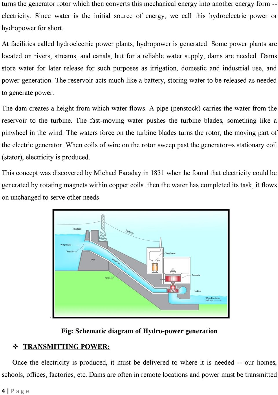 Report Of Educational Visit At Koyna Dam S Hydro Electric Power Plant Layout Diagram Some Plants Are Located On Rivers Streams And Canals But For A