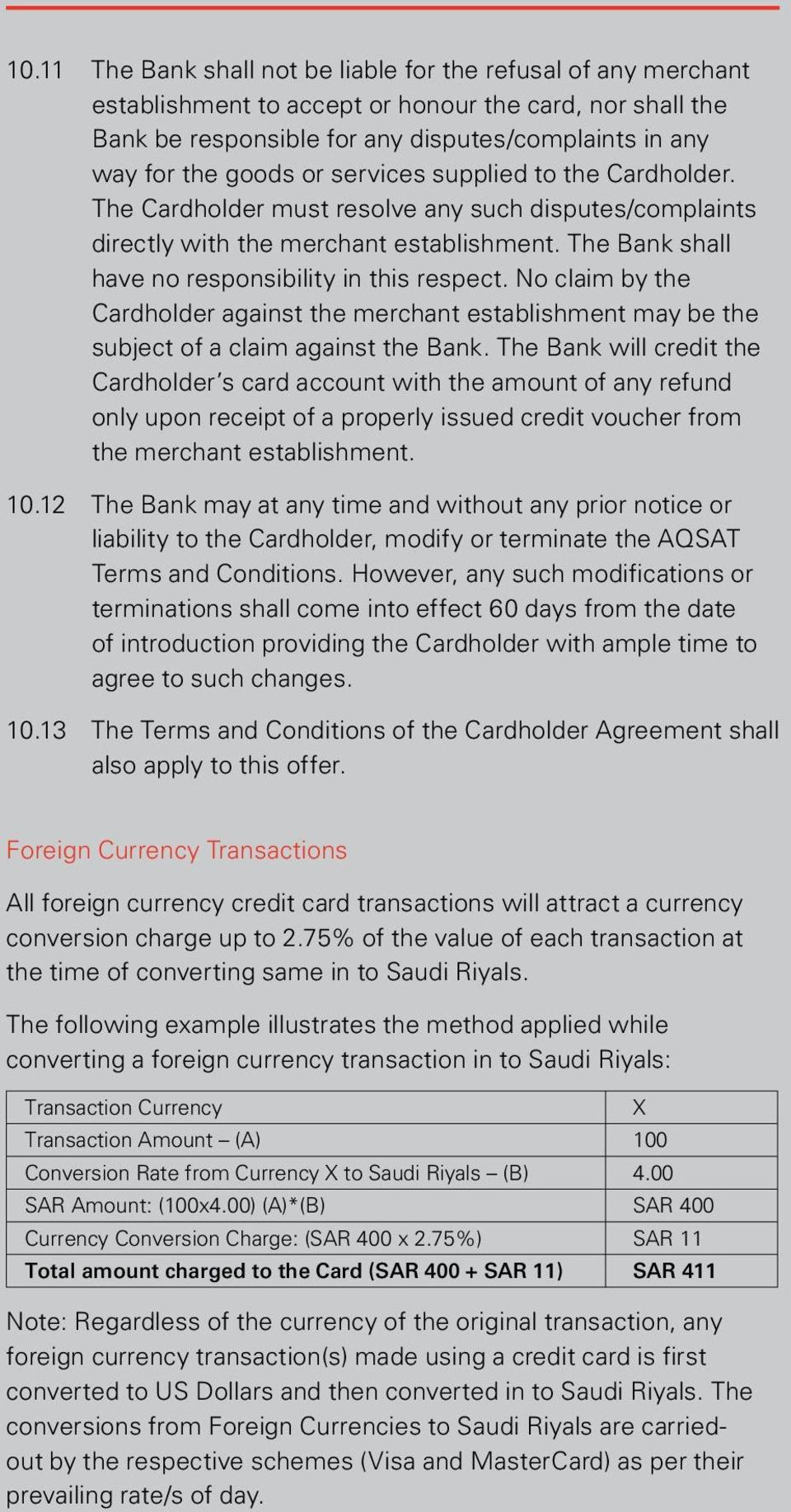 Terms and Conditions of SABB Credit Cards - PDF