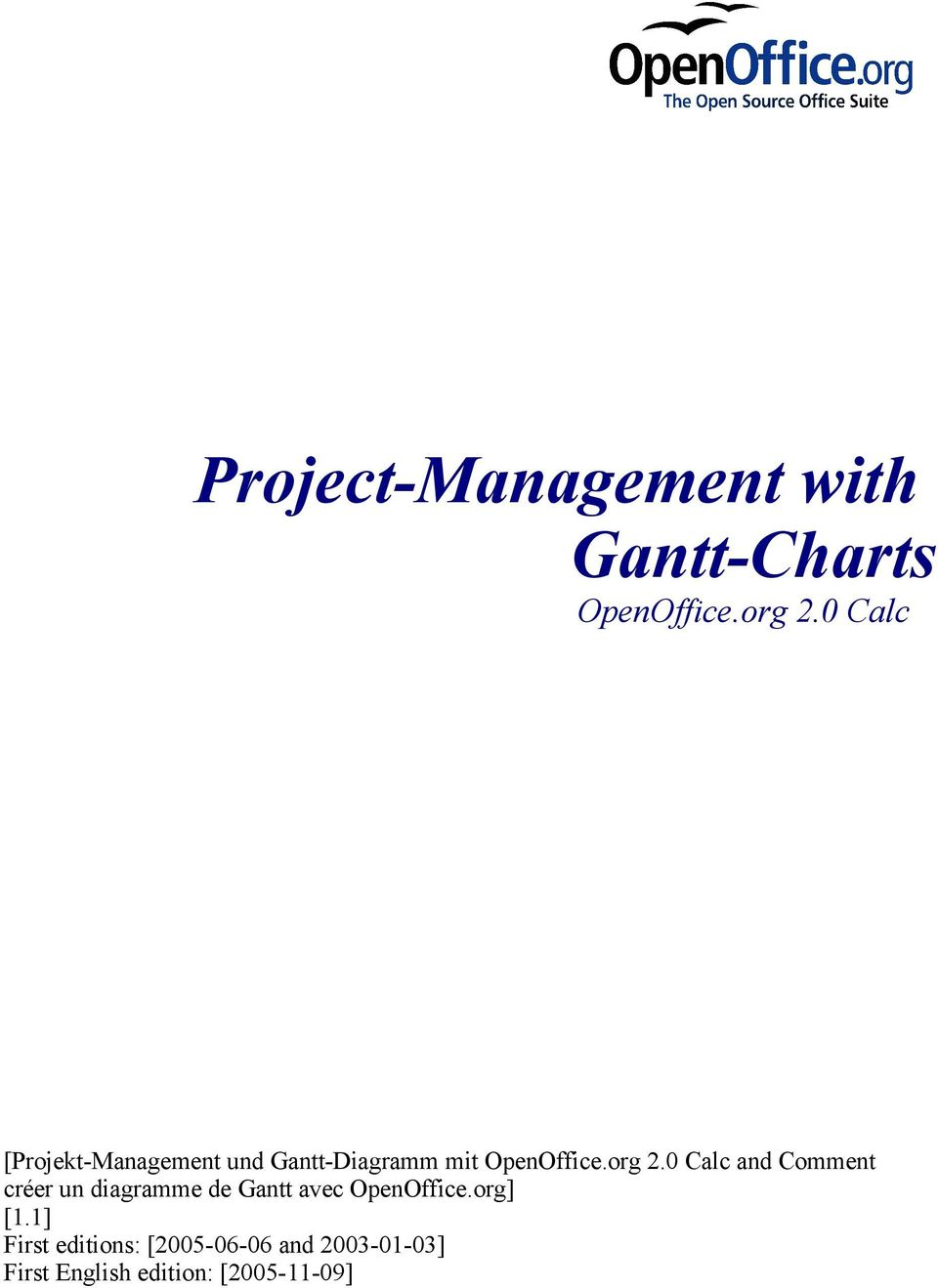 Project management with gantt charts pdf 0 calc and comment crer un diagramme de gantt avec openoffice ccuart