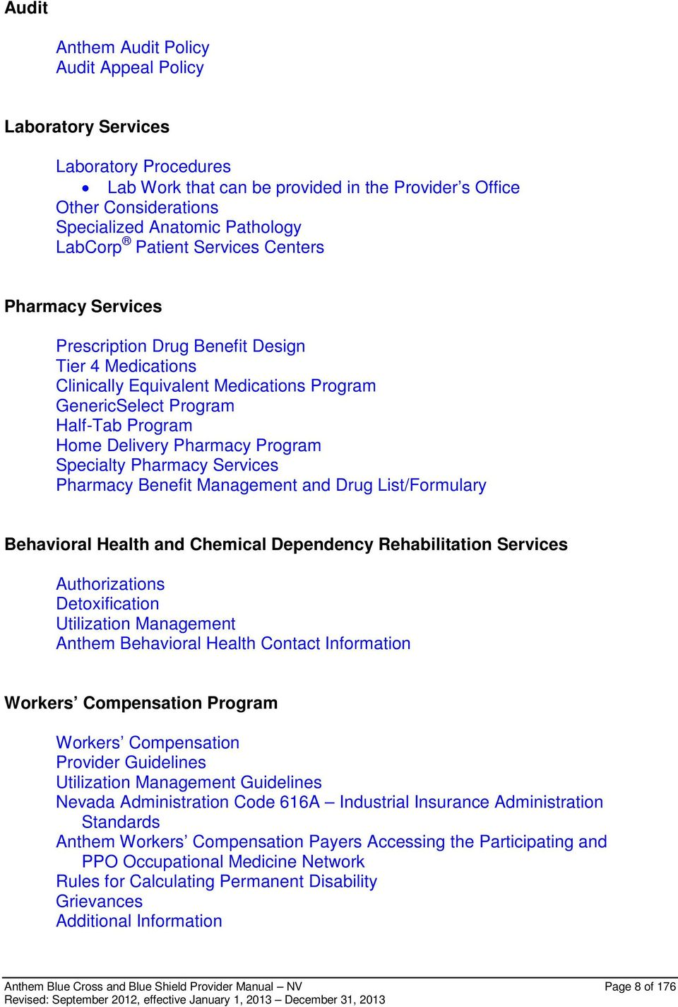 Anthem Blue Cross And Blue Shield Provider And Facility Manual Pdf