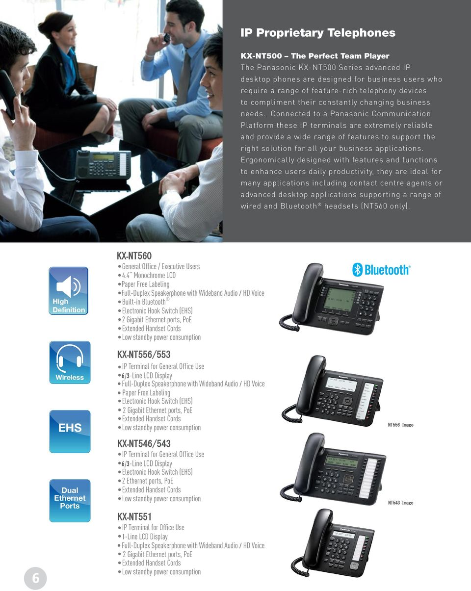 Connected to a Panasonic Communication Platform these IP terminals are extremely reliable and provide a wide range of features to support the right solution for all your business applications.