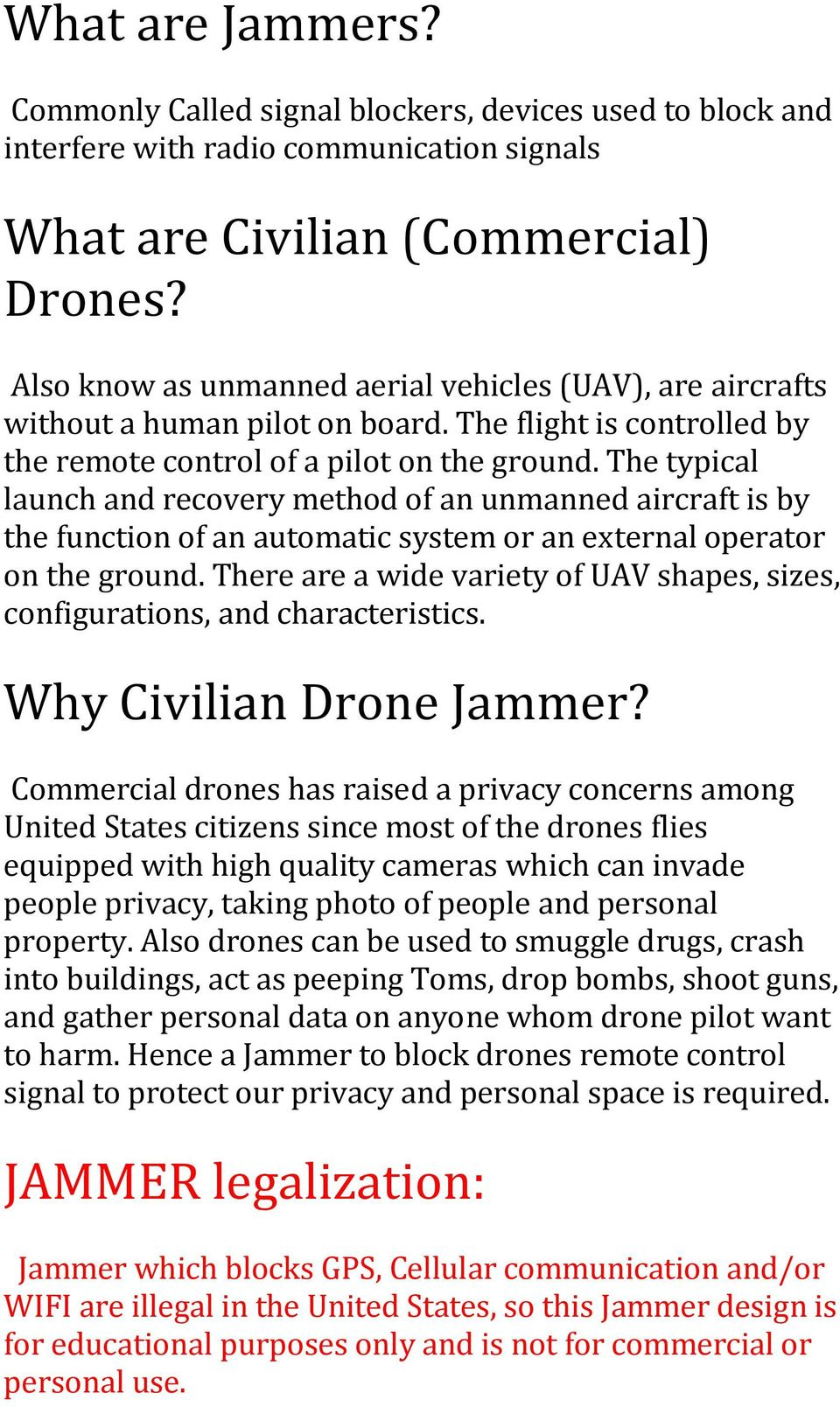 Gps Jammer Schematic Diagram Trusted Schematics Mobile Circuit Drones A Simple Drone Designed To Hack Unwelcomed Cell