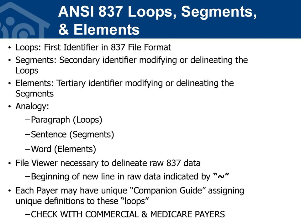 EDI, ANSI 837 Files, & Clearinghouse PDF