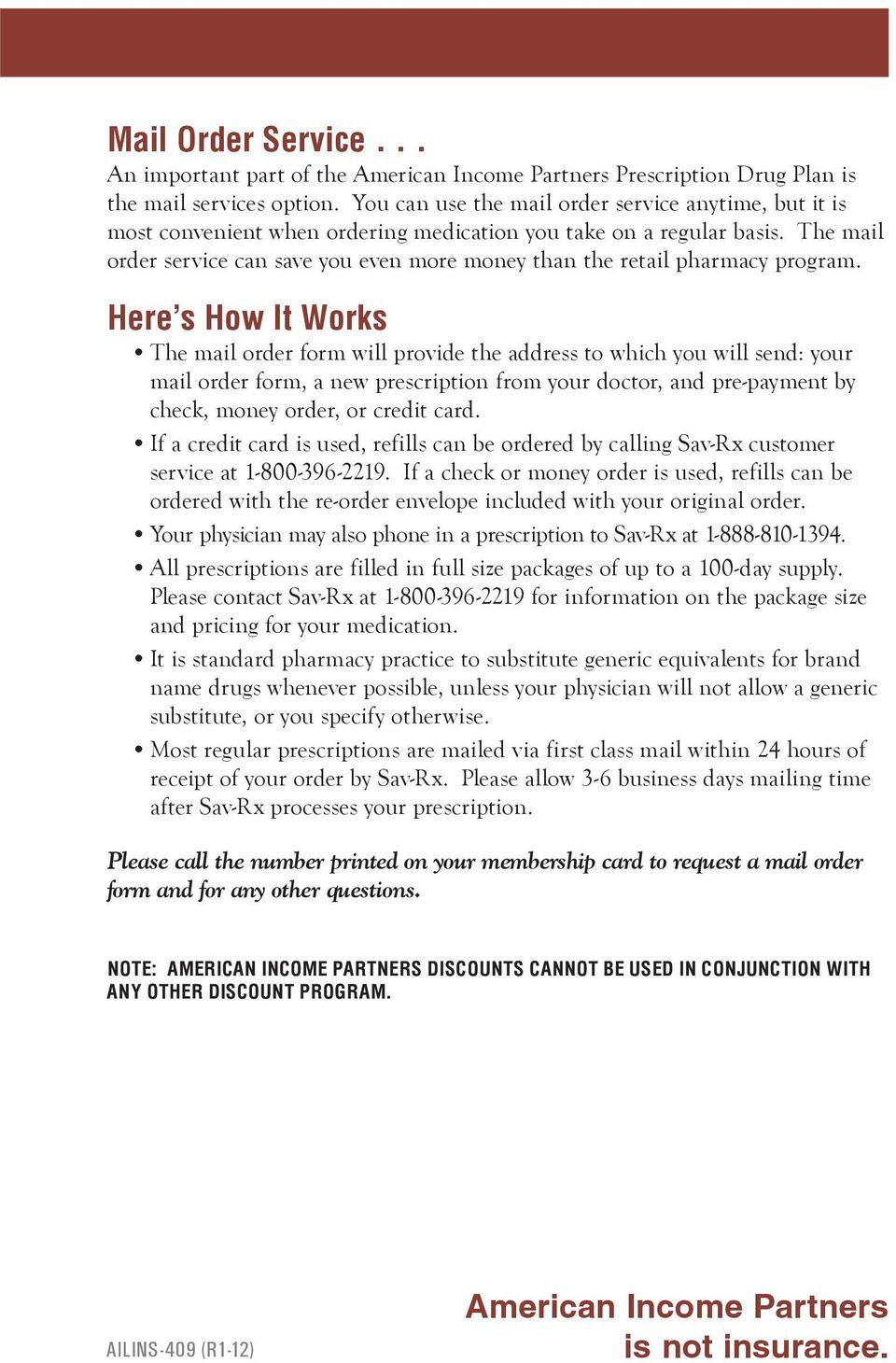 American Income Partners is not insurance  - PDF