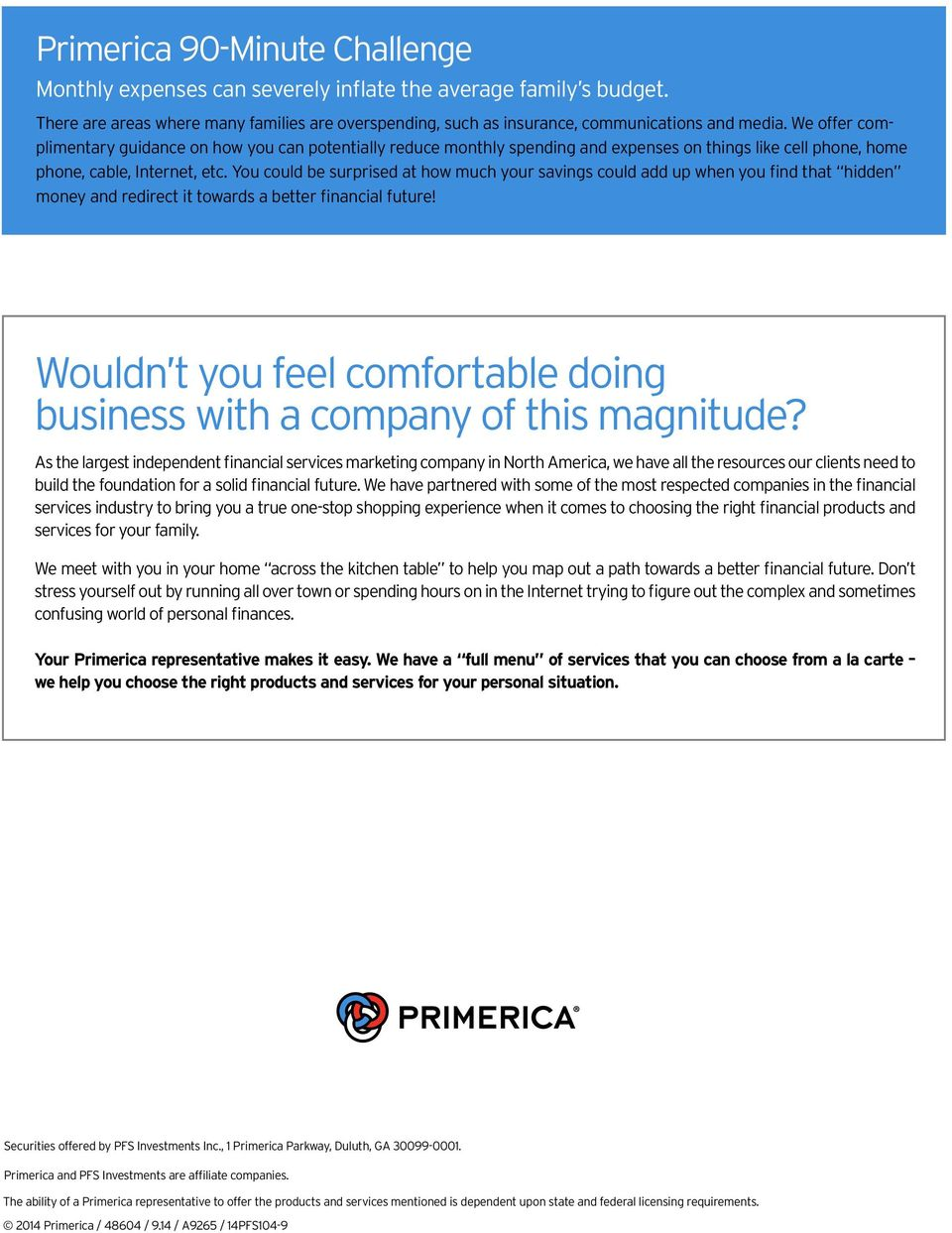 Primerica: The Total Package. Your One-Stop Financial Services ...