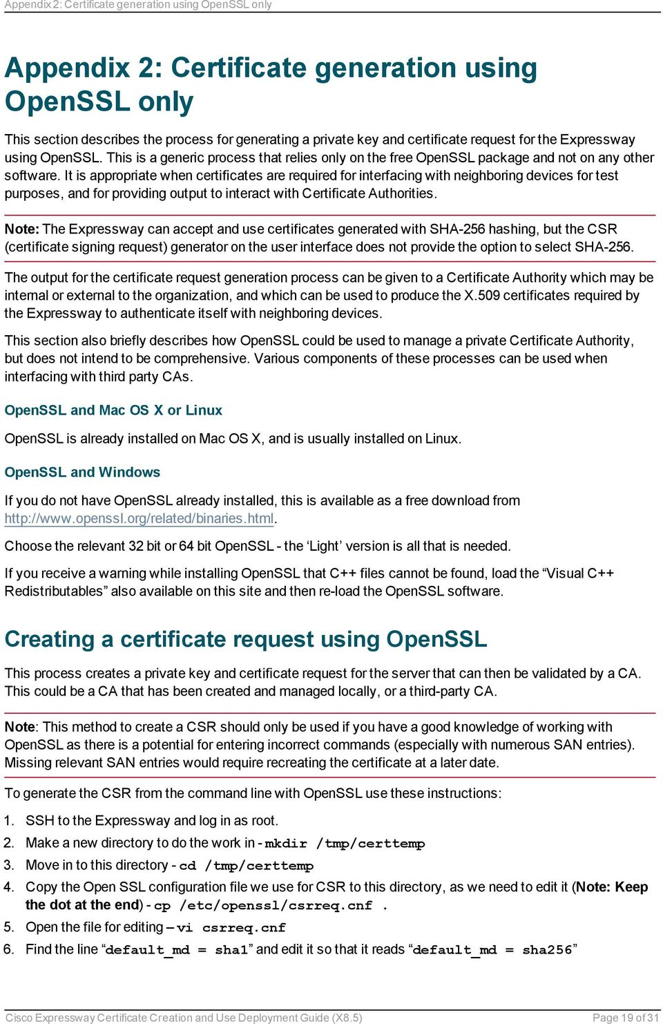 Cisco Expressway Certificate Creation and Use - PDF
