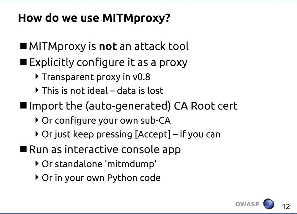 mitmproxy org How MITMproxy has been slaying SSL Dragons