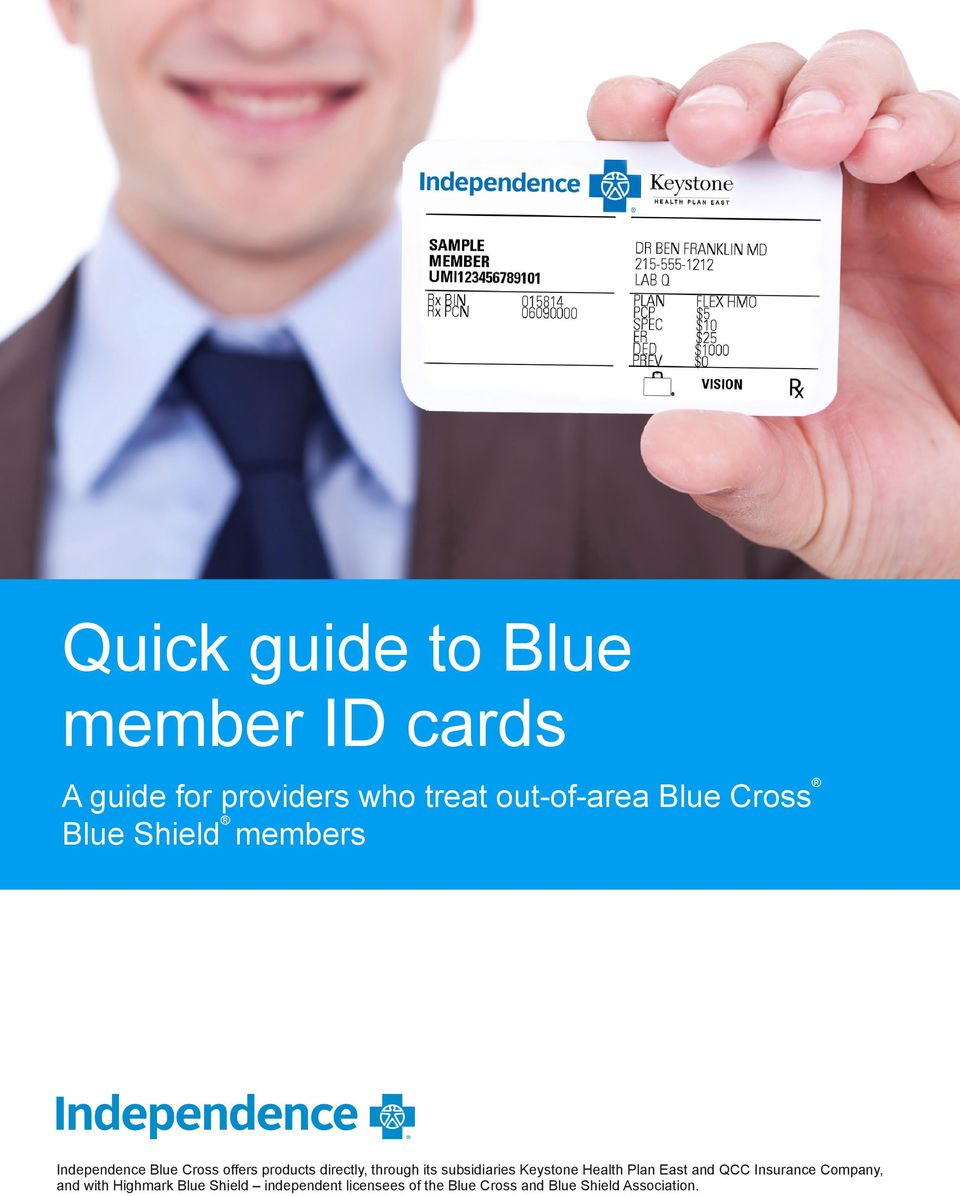 Quick guide to Blue member ID cards - PDF