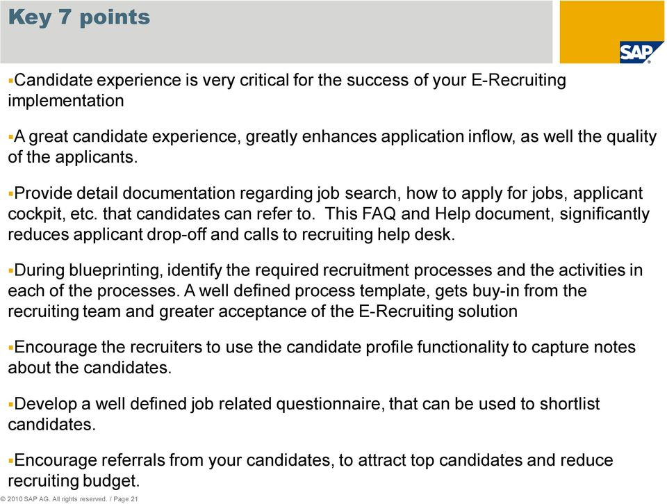 Implementing Sap E Recruiting Ehp4 At A Public Sector Customer Pdf