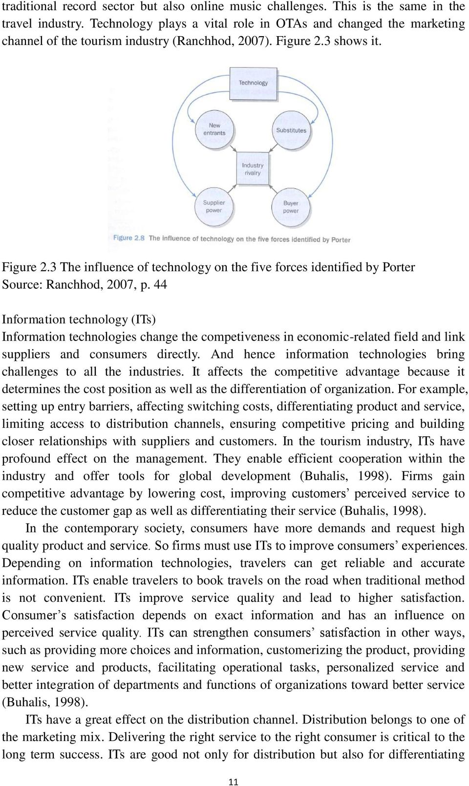 Master thesis challenges in marketing strategy of online travel 3 shows it figure 23 the influence of technology on the five forces identified by fandeluxe Images