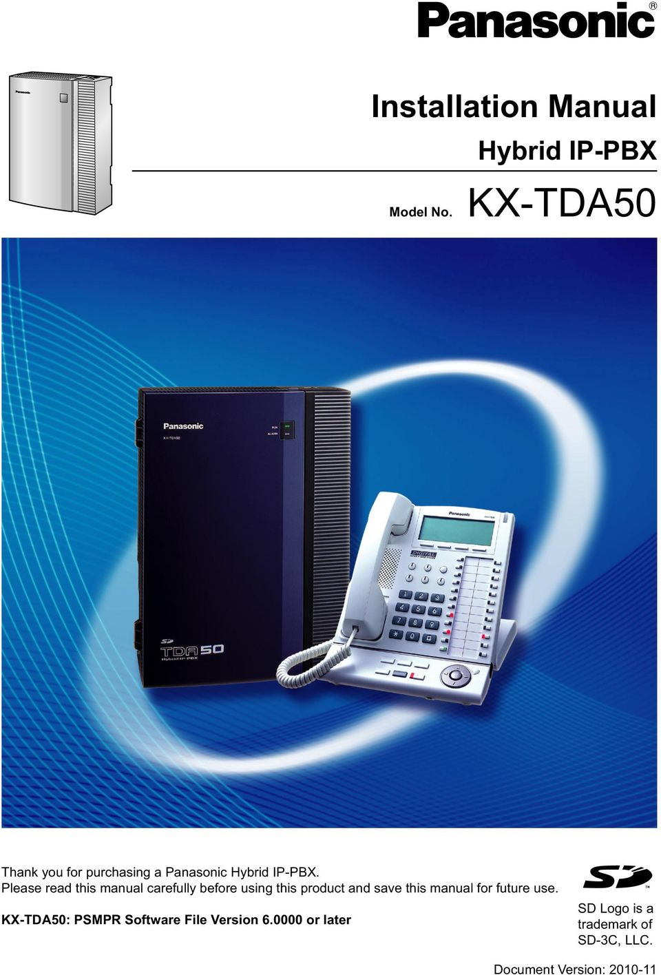 kx tda50 installation manual hybrid ip pbx model no pdf rh docplayer net kx-tda50g user manual kx-tda50 pc programming manual