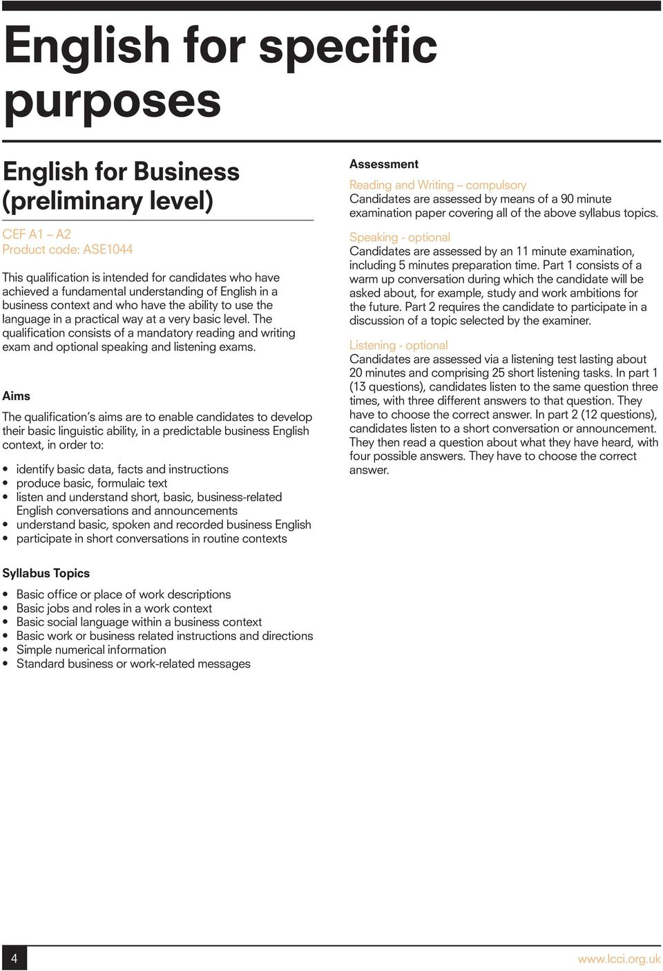 English Topic For Speaking