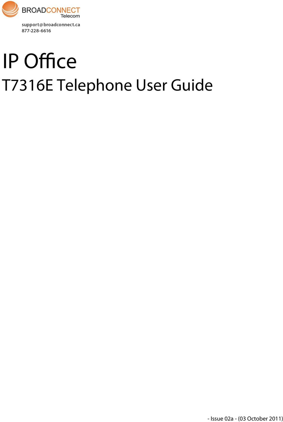 T7316E Telephone User Guide - PDF