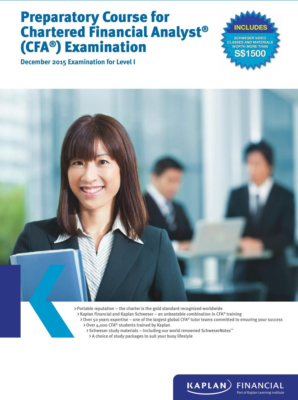 Preparatory Course for Chartered Financial Analyst (CFA
