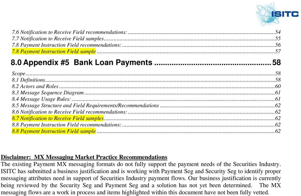 Payments Market Practice Document  ISITC Settlements Working Group - PDF