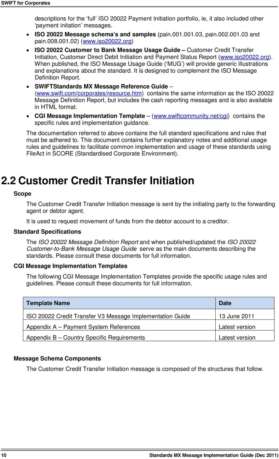 standards mx message implementation guide and rule book pdf rh docplayer net swift standards message reference guide category 1 - customer payments and cheques Swift Message Standards MT101