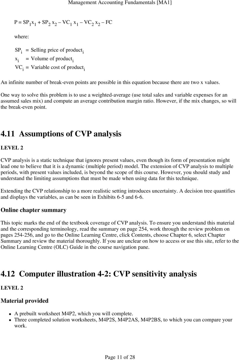 Module 4: Cost behaviour and cost-volume-profit analysis - PDF