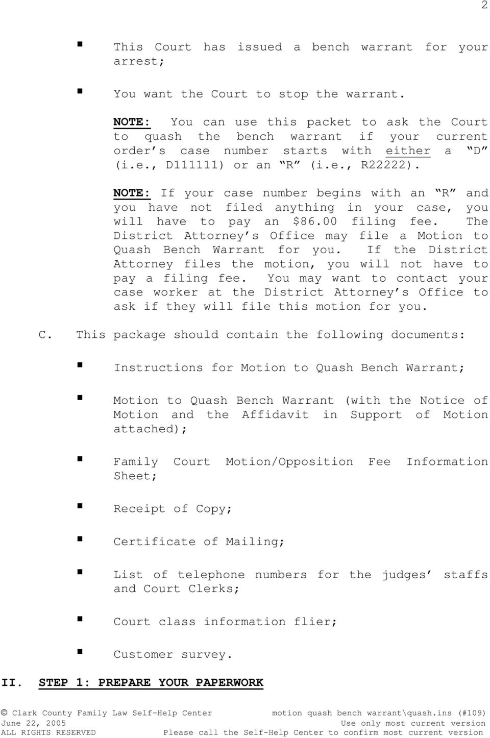 Motion to quash bench warrant pdf note if your case number begins with an r and you have not filed anything maxwellsz