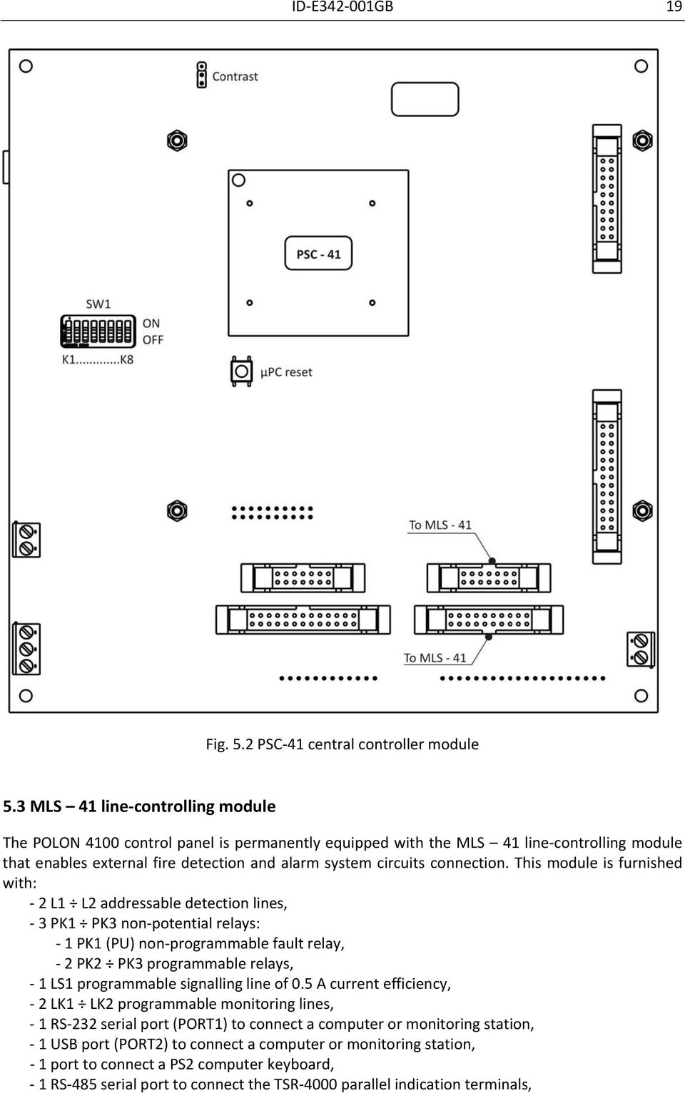 Polon 4100 Fire Detection And Alarm Addressable Control Panel Pdf Pk3 Wiring Diagram Connection