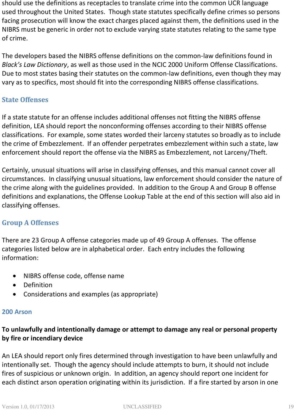 National Incident-Based Reporting System (NIBRS) User Manual