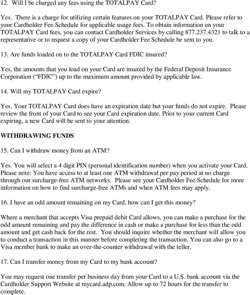 Cardholder Frequently Asked Questions - PDF