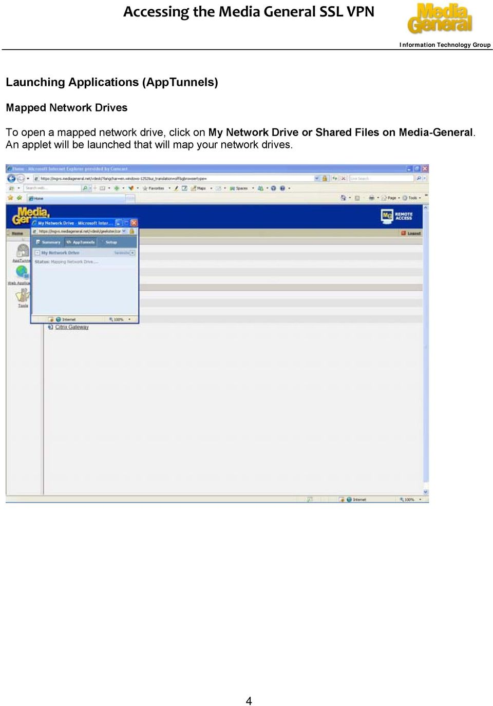 Network Drive or Shared Files on Media-General.