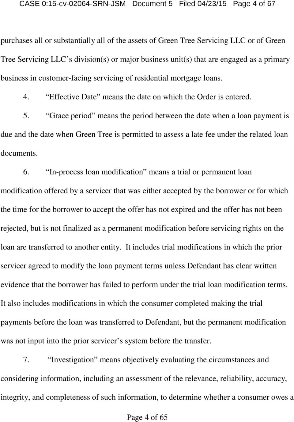 United States District Court Of Minnesota Pdf Wiring Instructions For Ocwen Loan Servicing Grace Period Means The Between Date When A Payment Is Due And
