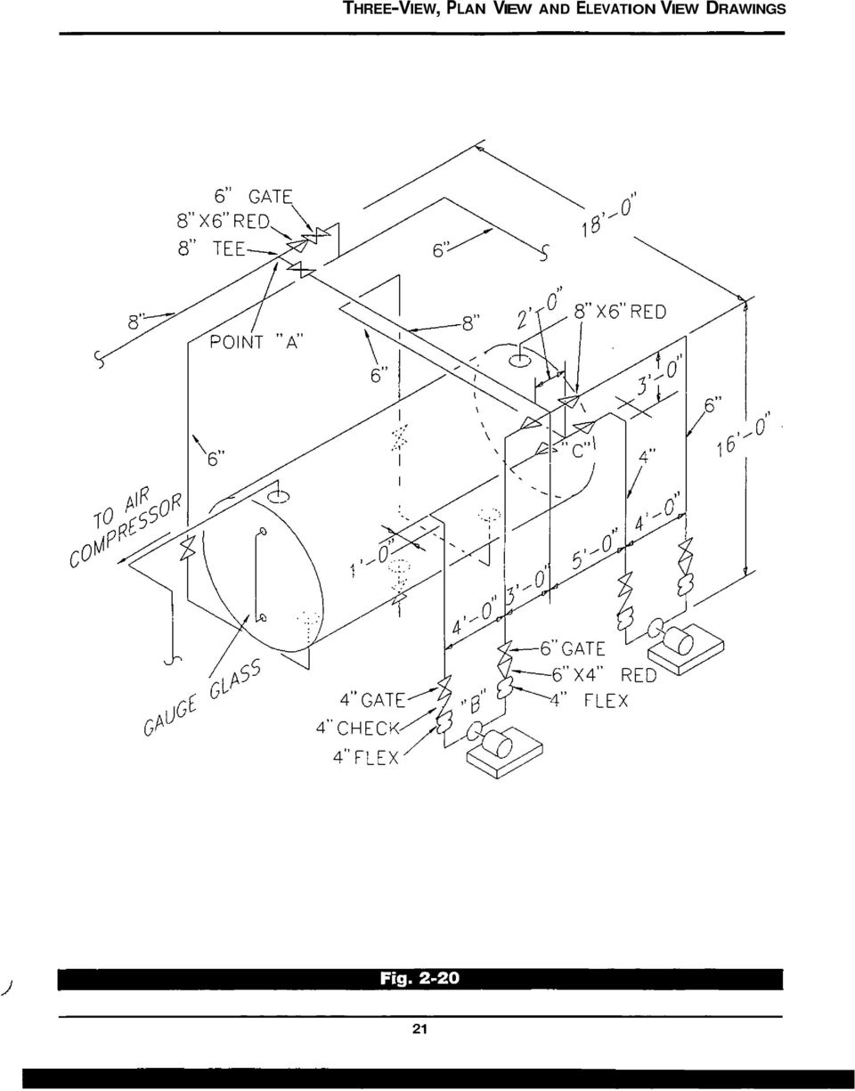 three view plan view and elevation view drawings pdf Types of Lines in Construction Drawings 10 the type of drawings most monly used on job sites are plan and elevation views usually the plan and one elevation view are used to fully describe an