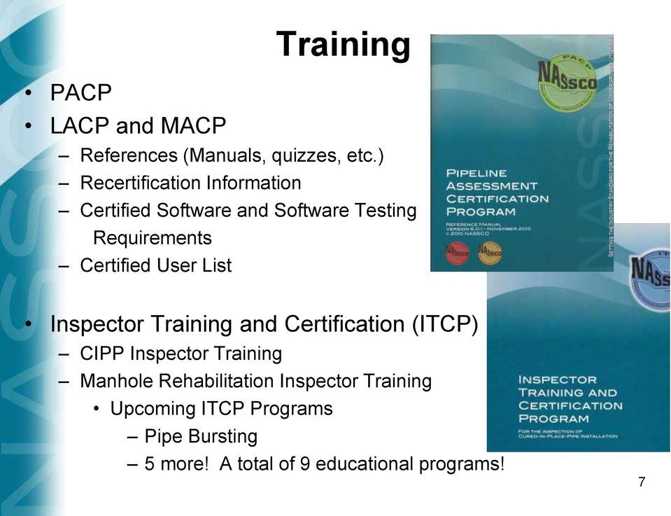 Infrastructure Condition Assessment And Certification Programs