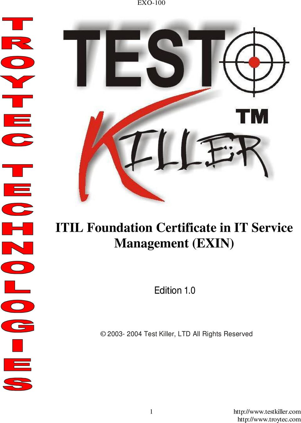 Itil Foundation Certificate In It Service Management Exin Pdf