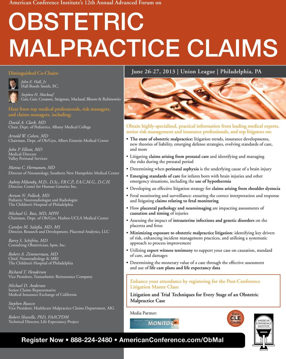 OBSTETRIC MALPRACTICE CLAIMS - PDF