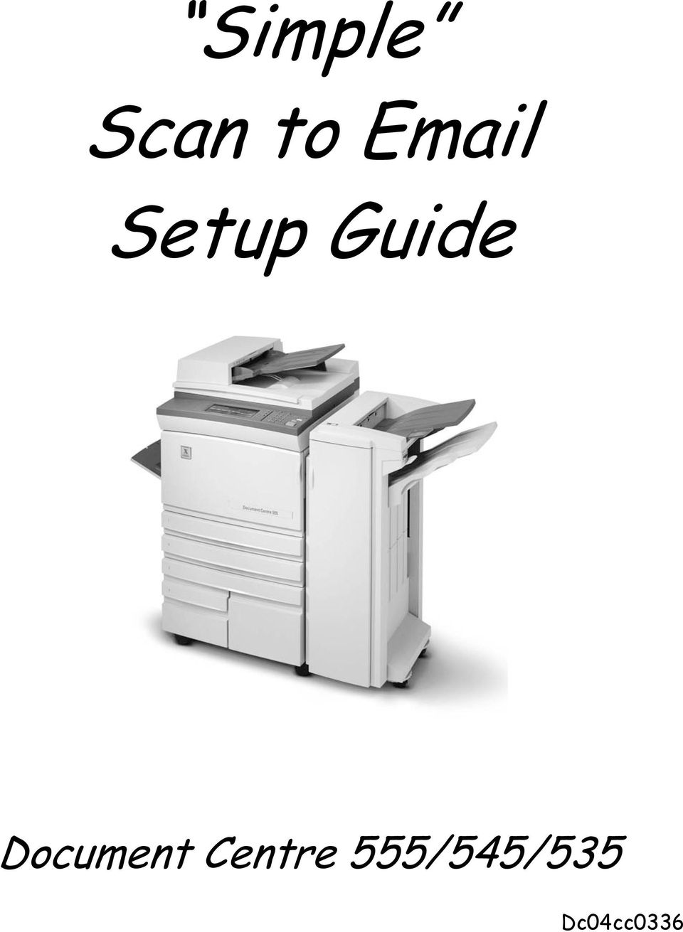 Xerox Scan To Email Setup